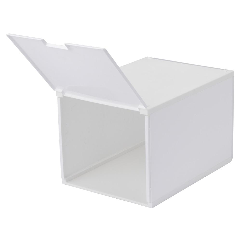 積み重ねたまま取り出せる組立式ケース ワイドハイタイプ