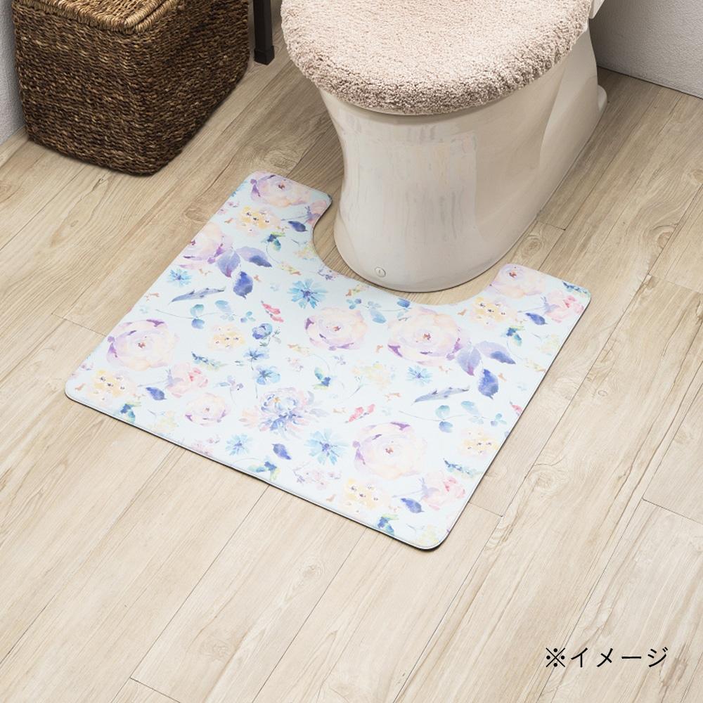 シートで拭けるトイレマット フラワー