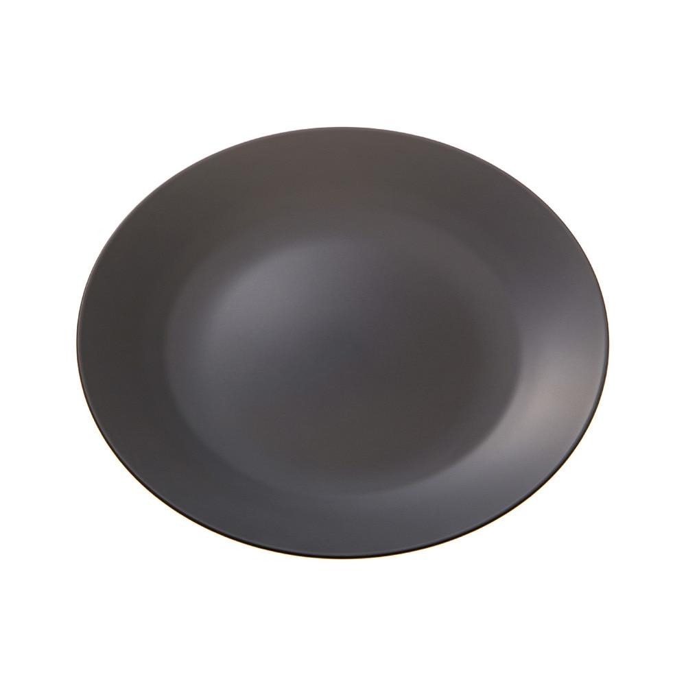 レンジで使えるHAJIKUDRY+ 丸皿21cm 黒茶色