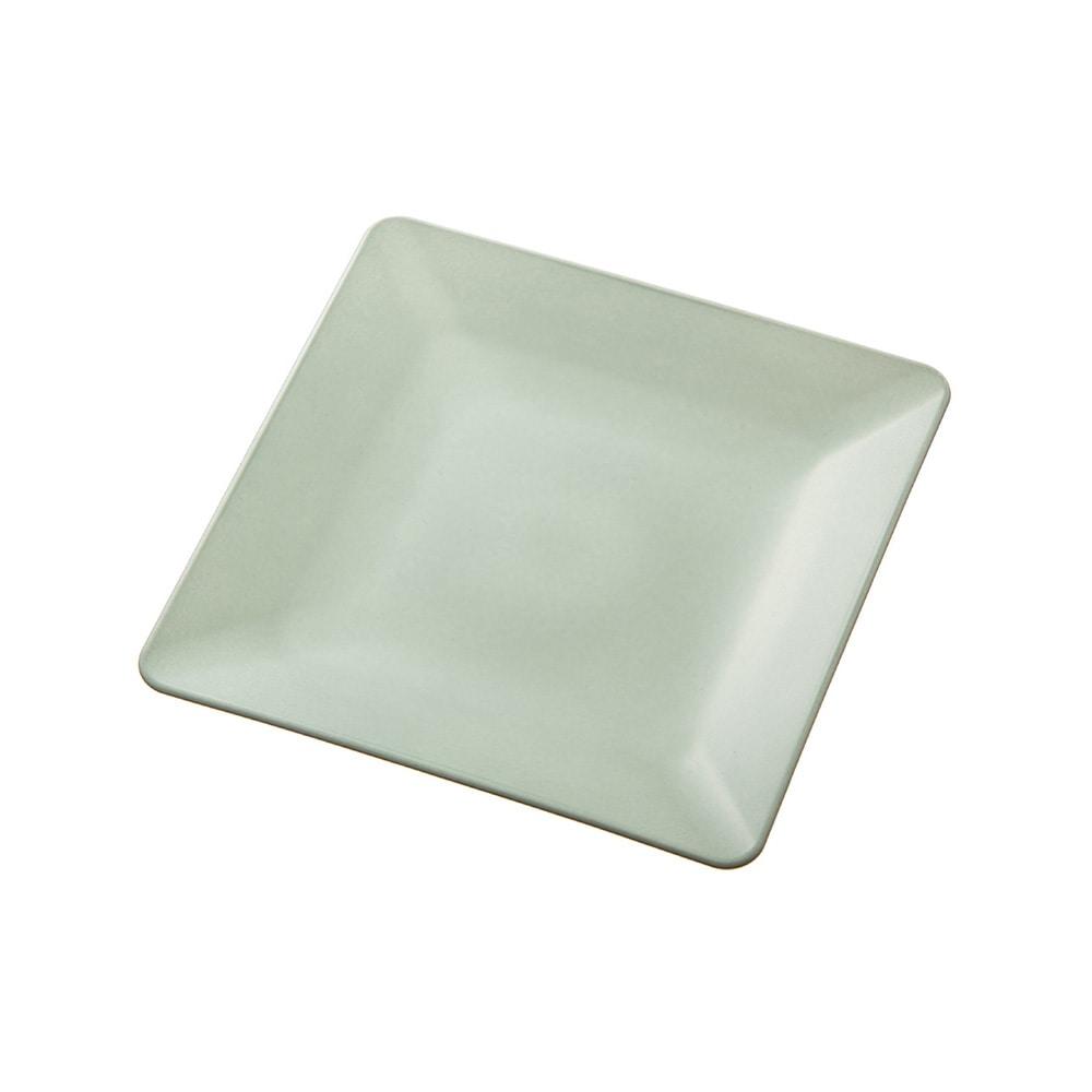 【数量限定】レンジで使える HAJIKU DRY+ 角皿13cm 青磁色