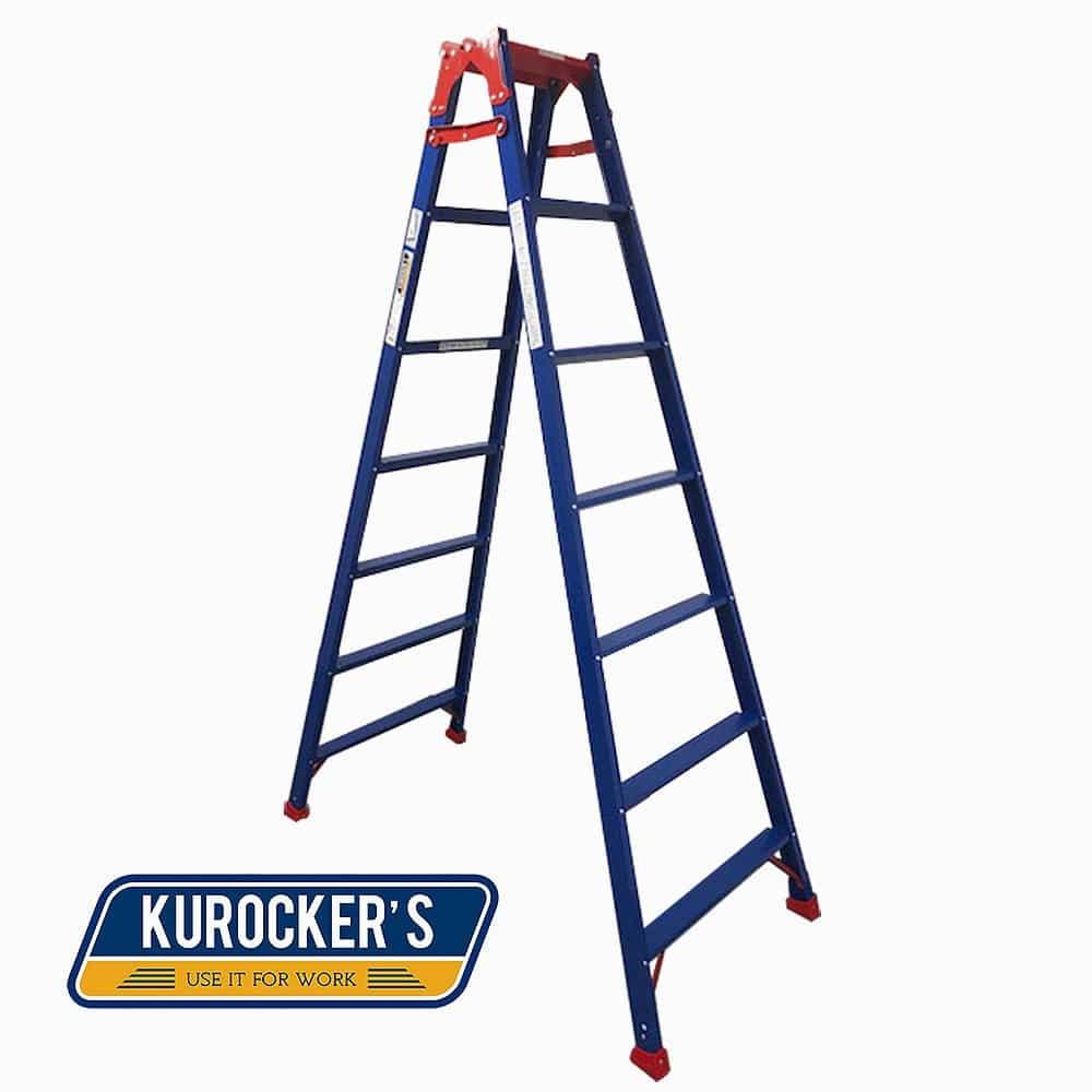 【SU】KUROCKER'S はしご兼用脚立ワイド踏ざんタイプ210CM CHK210BR