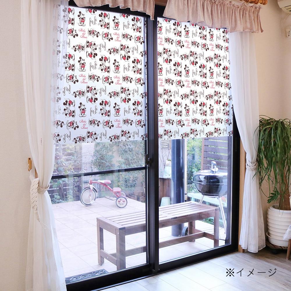 ディズニー窓フィルム ミッキー&ミニー 92X90cm