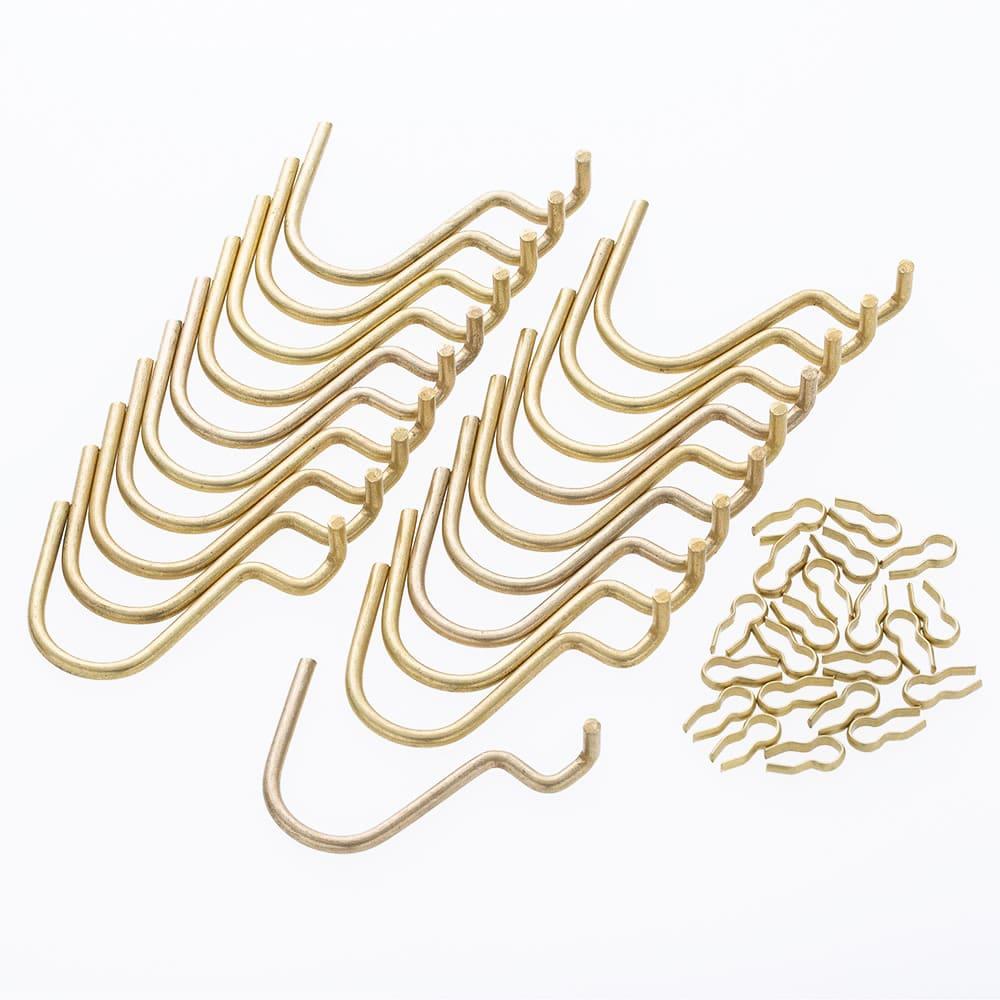 Kumimoku デザインボード U型フック 20個入り ゴールド