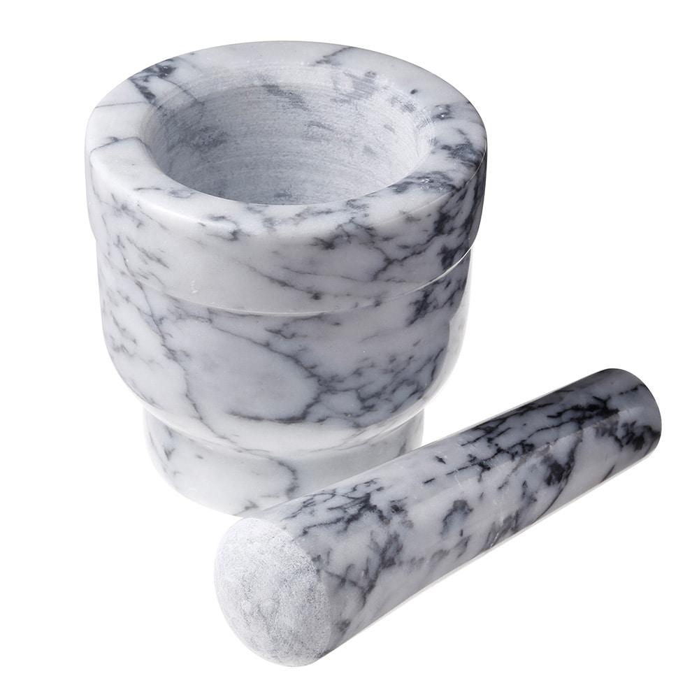 【trv】MARBLEマーブル 乳鉢セット ホワイトグレー
