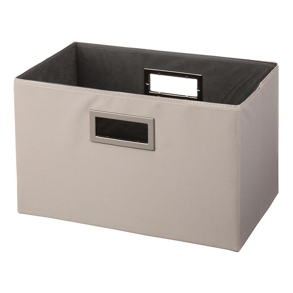持ち運びしやすい折りたたみ収納ボックス ベージュ