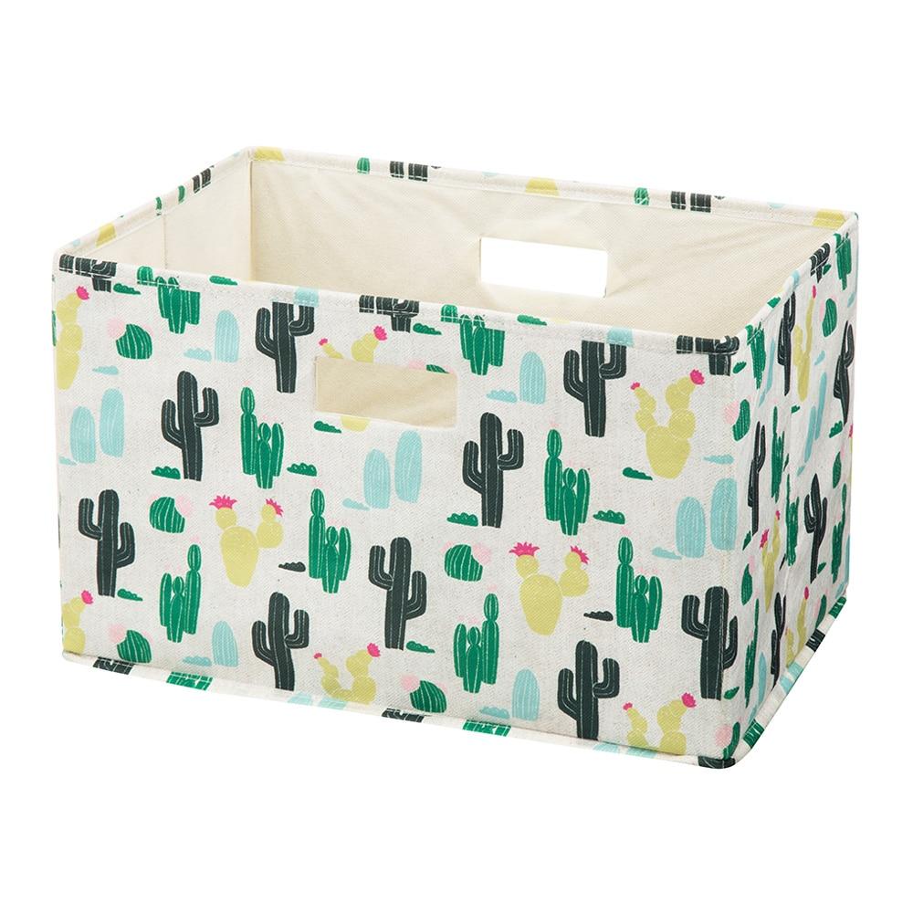 持ち運びしやすい折りたたみ収納ボックス サボテン