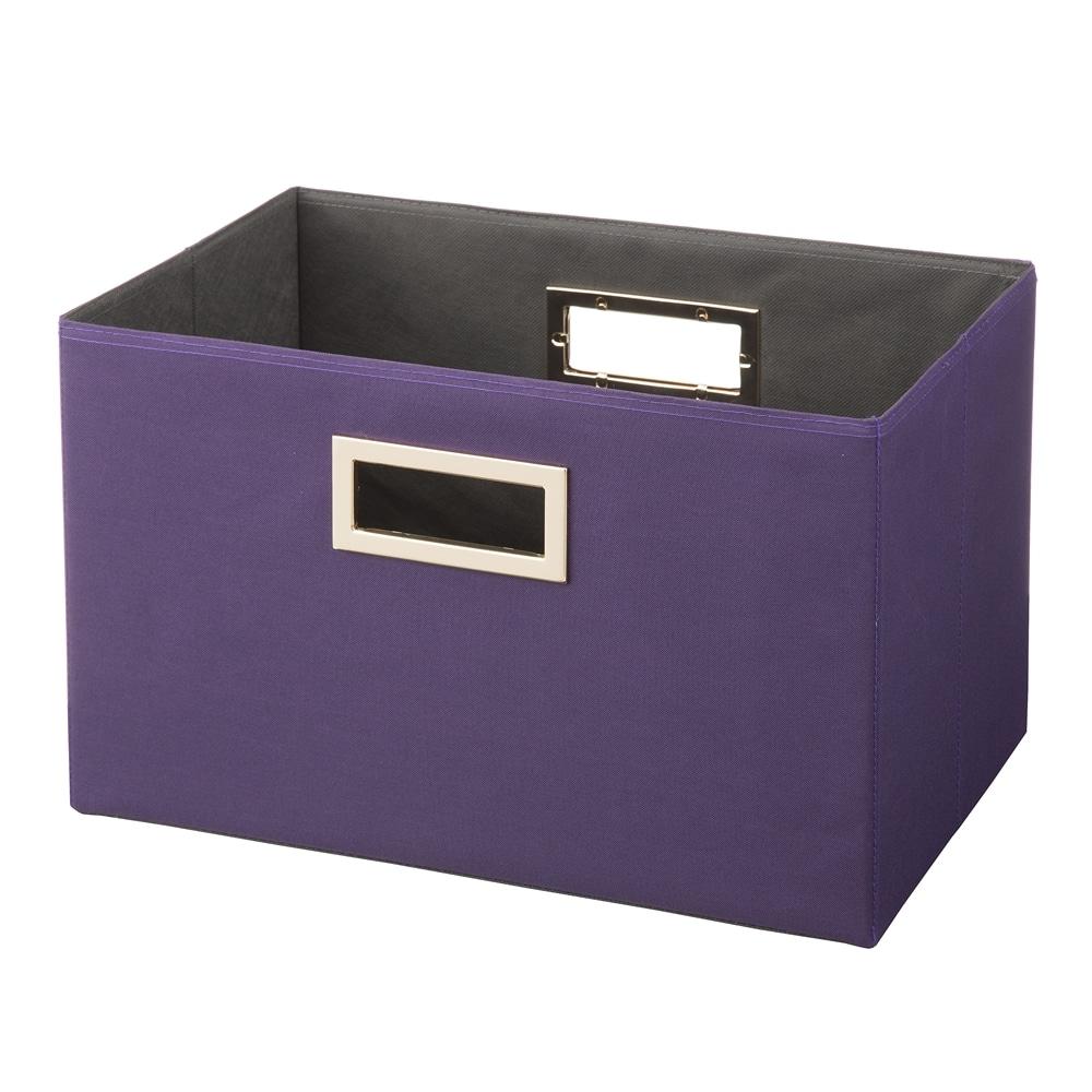 持ち運びしやすい折りたたみ収納ボックス パープル