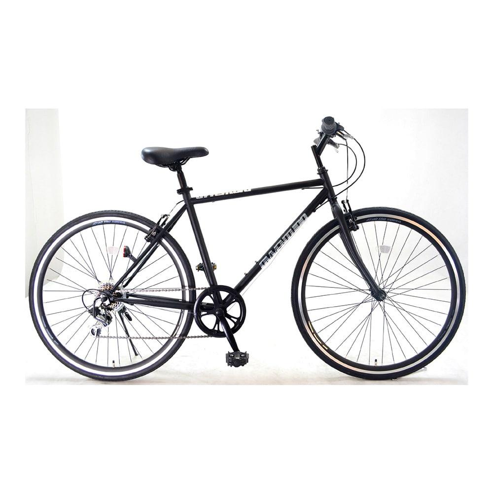【自転車】クロスバイク AVVENTURA 外装6段 700×28C ブラック エアロリム仕様【別送品】