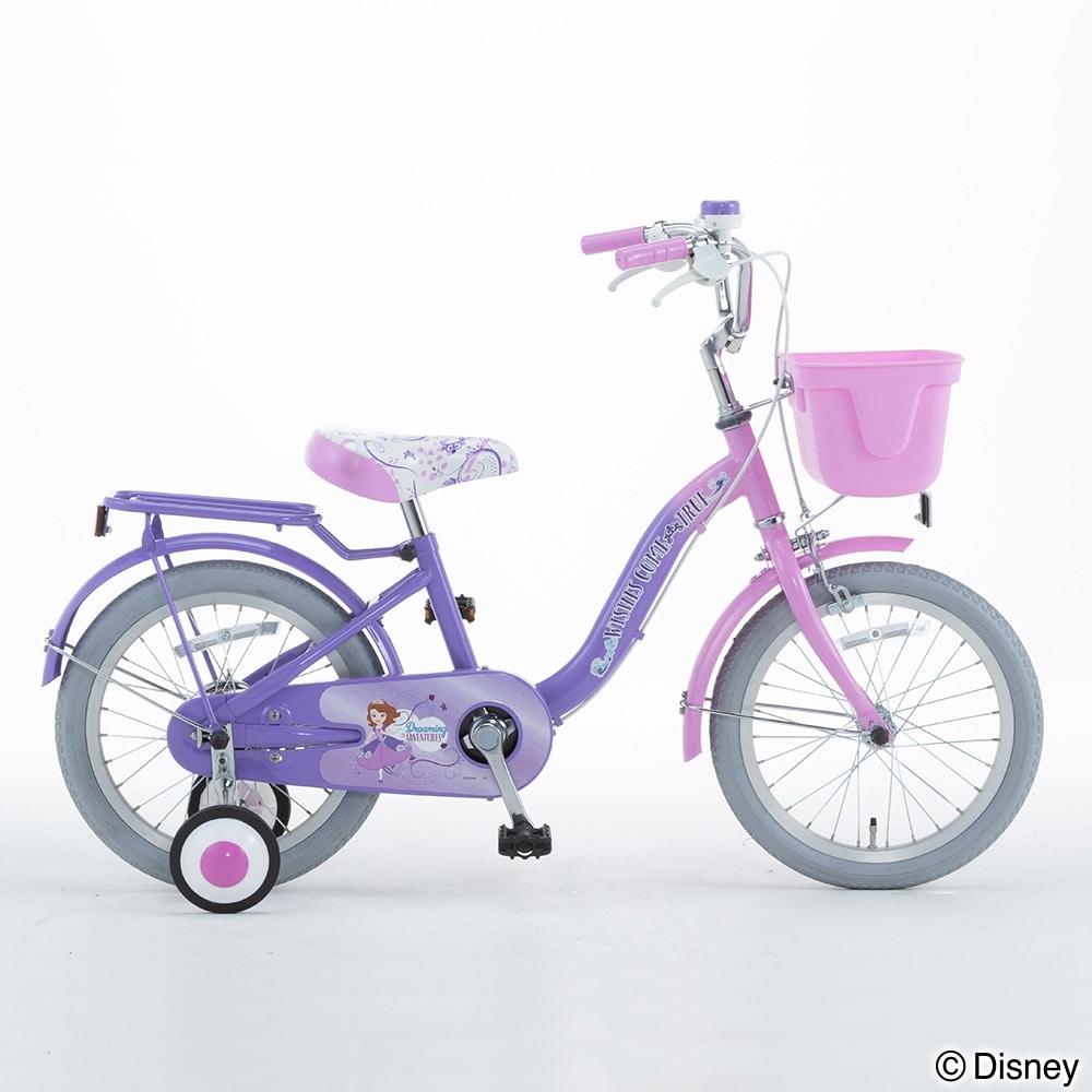 ディズニーデザインの幼児車 ソフィア 16インチ