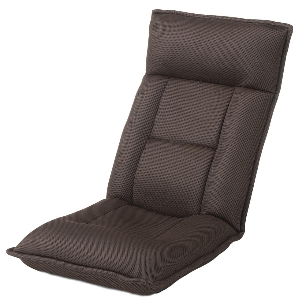 B23倒れにくい座椅子 ブラウン