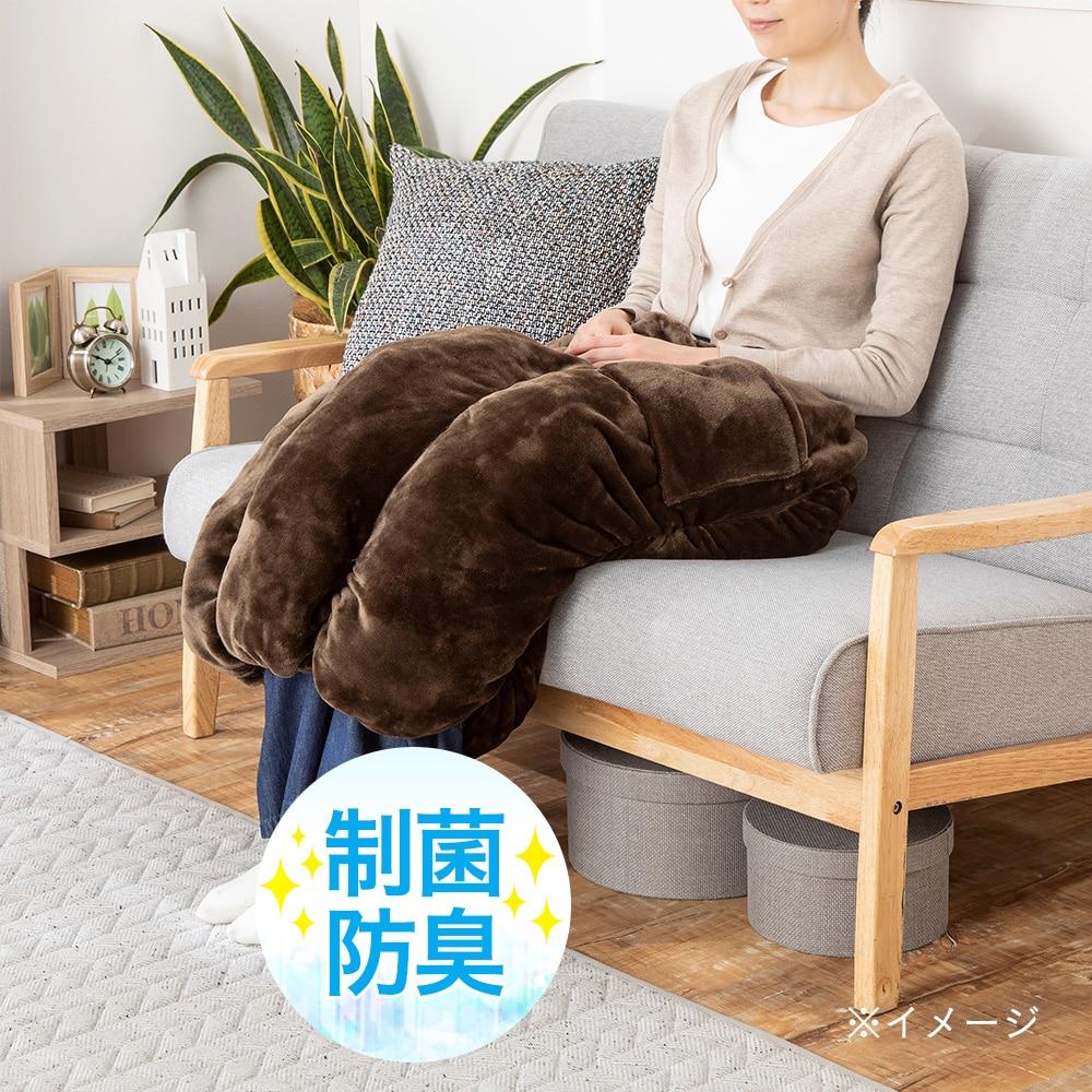 【2019秋冬】あったかロールクッション &pet 50×70 ブラウン