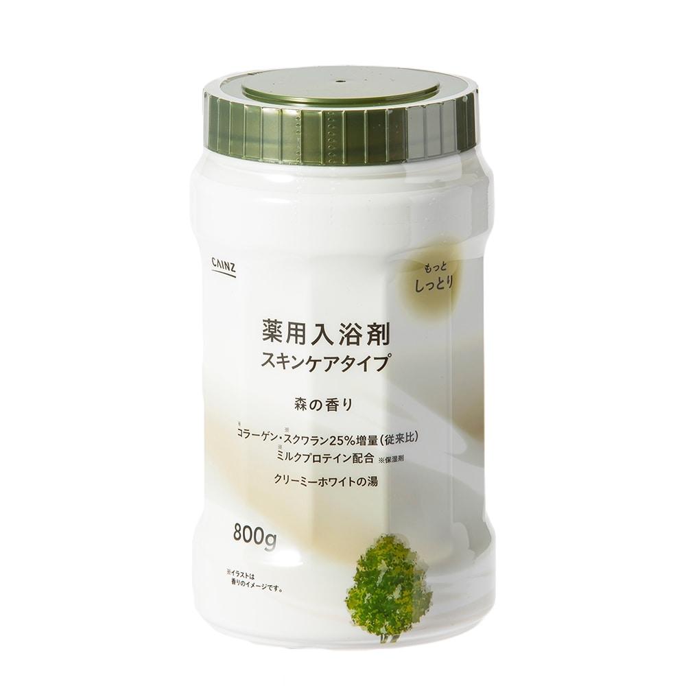 カインズ 薬用入浴剤 スキンケアタイプ 800g 森の香り