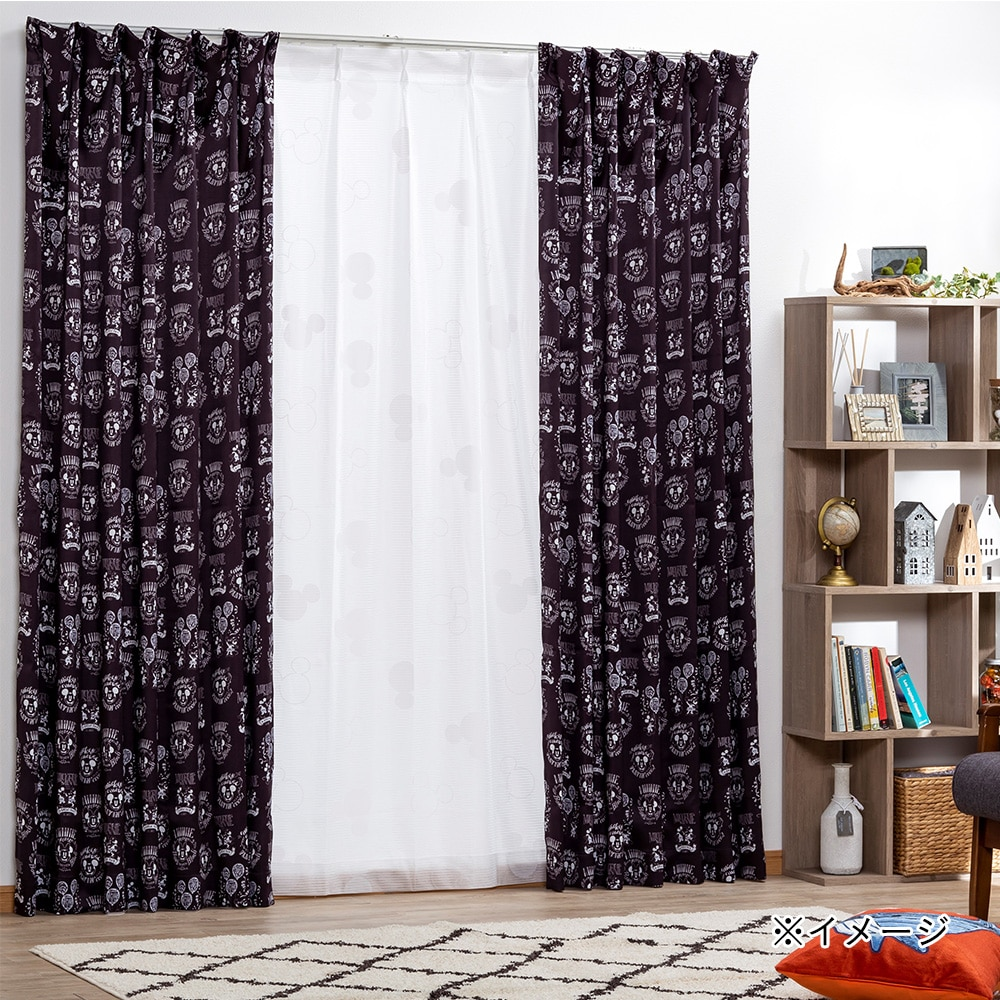 【数量限定】遮光4枚組セットカーテン ミッキー&ミニー 100×178