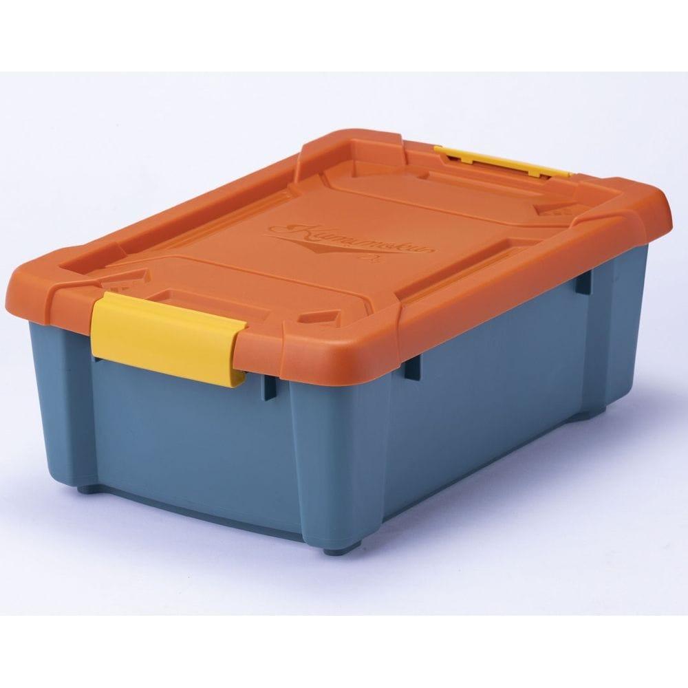 Kumimoku バックル付きストッカー浅型 オレンジブルー