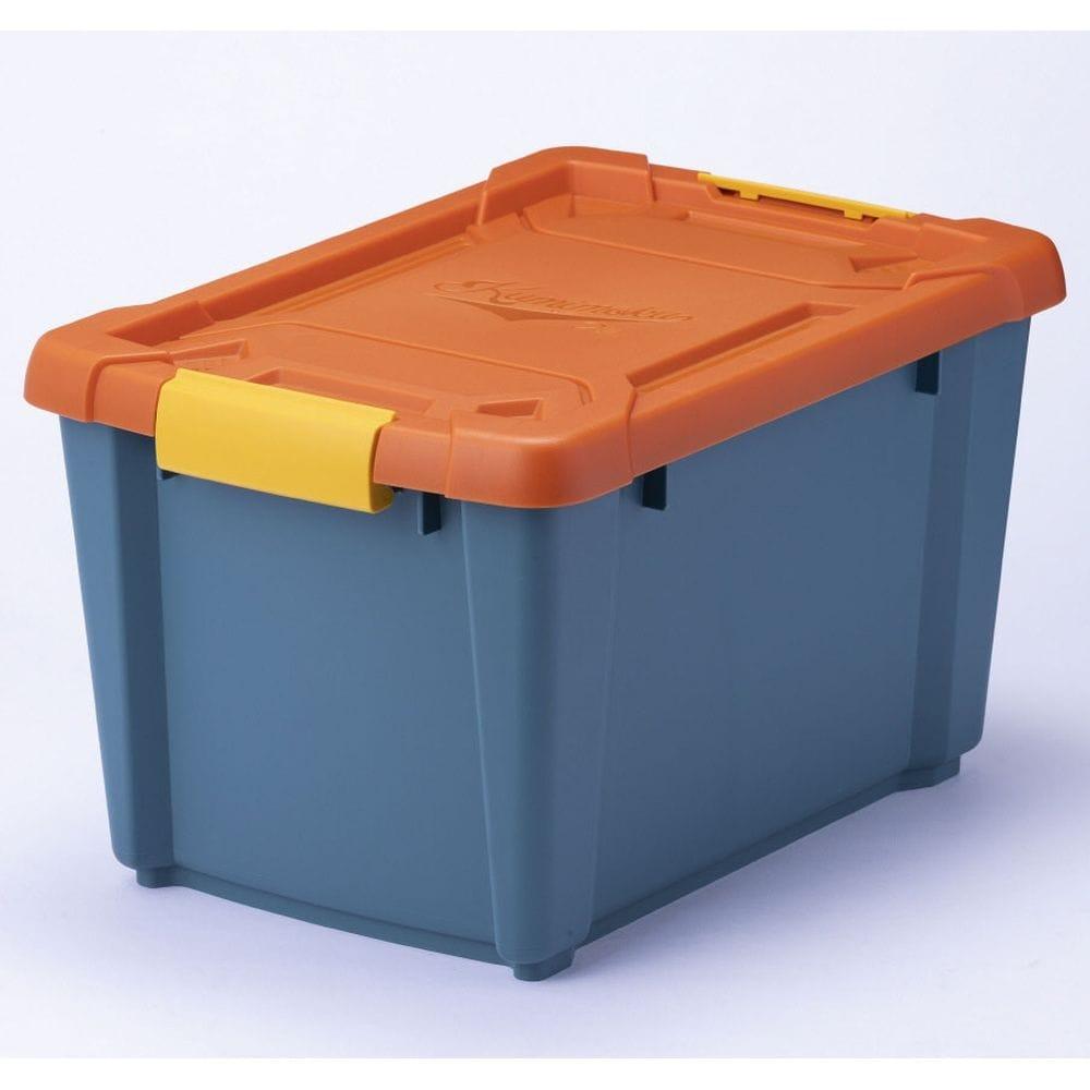 Kumimoku バックル付きストッカー 深型 オレンジ/ブルー