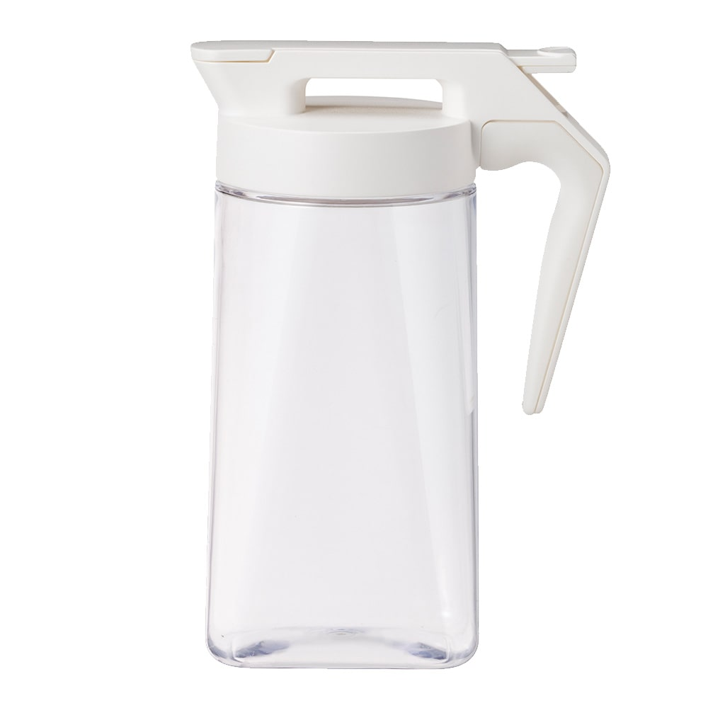 持ちやすいワンプッシュ冷水筒 1.6L ホワイト