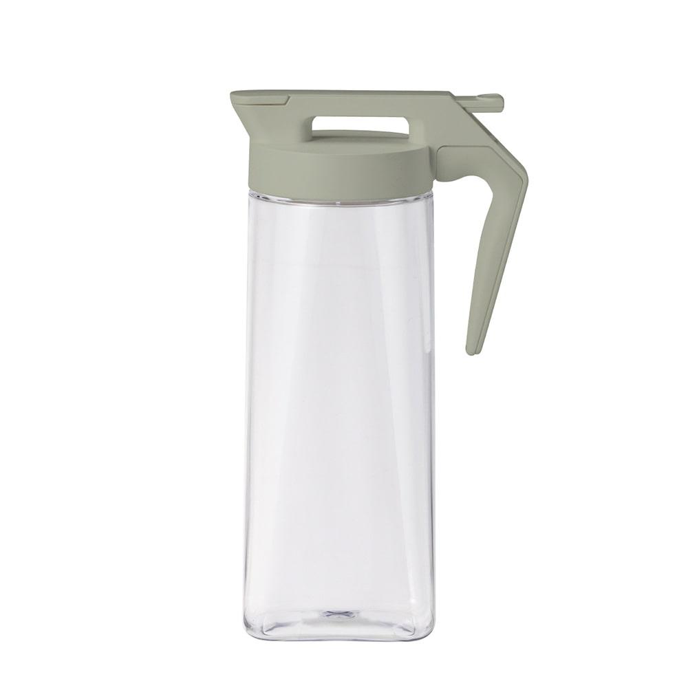 持ちやすいワンプッシュ冷水筒 2.1L グレー