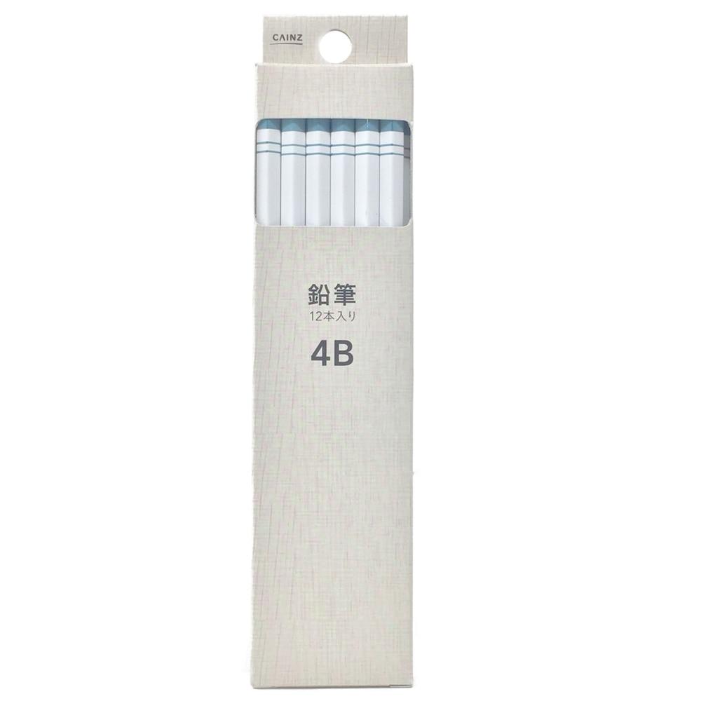 かきかた鉛筆 4B ホワイト(12本入り)