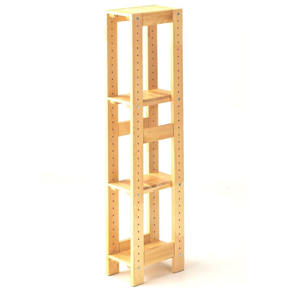C14 木製ラック18 4段 ナチュラル