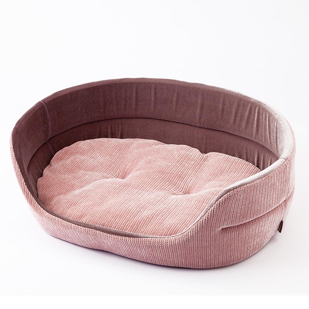 【2020秋冬】丸型ベッド ニットピンク 2L