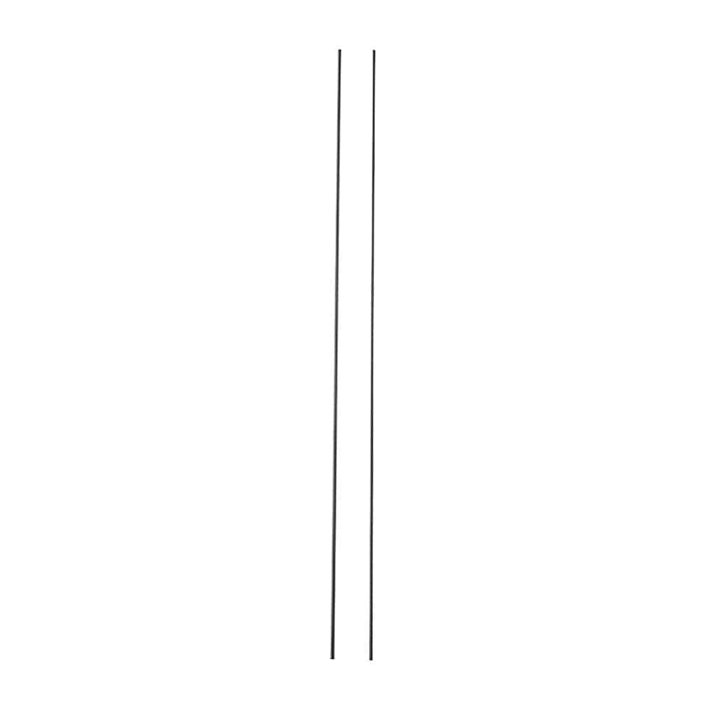 【2021春夏】日よけ スタンドシェードになる縦支柱パイプ ブラック 1.6×270cm 2本入