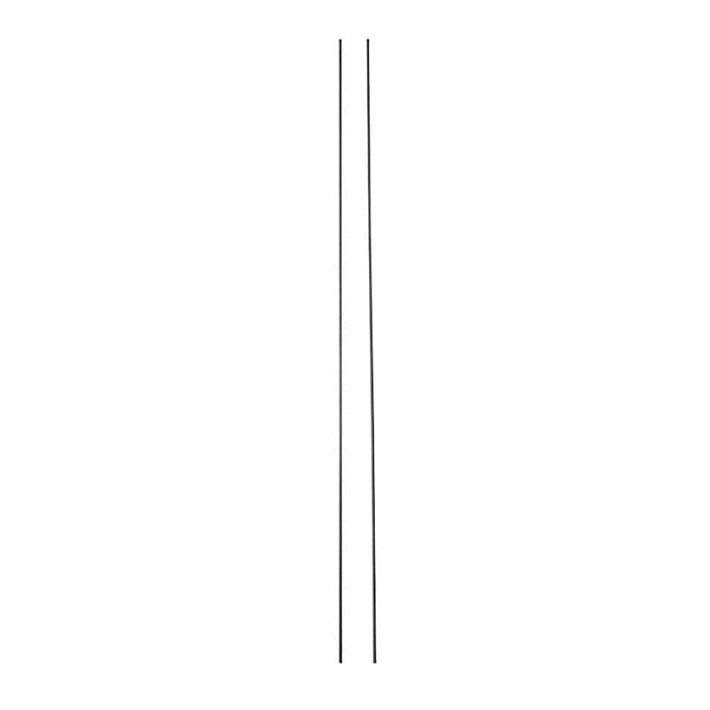 【2021春夏】日よけ スタンドシェードになる縦支柱パイプ ブラック 1.6×300cm 2本入