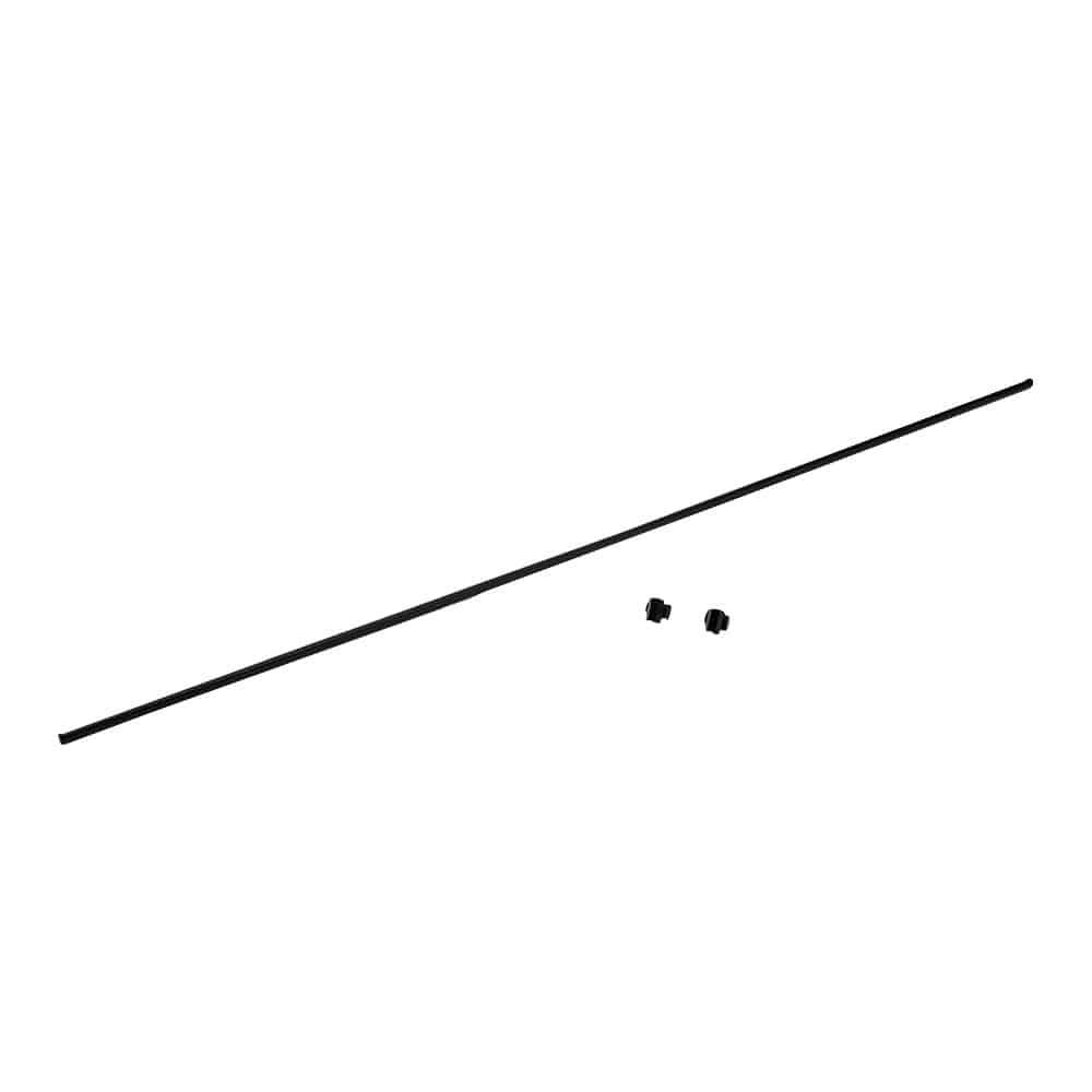 【数量限定・2021春夏】日よけ サンセイルをピンと張れる 横支え用パイプ ブラック 2m幅用 1.6×200cm 1本入