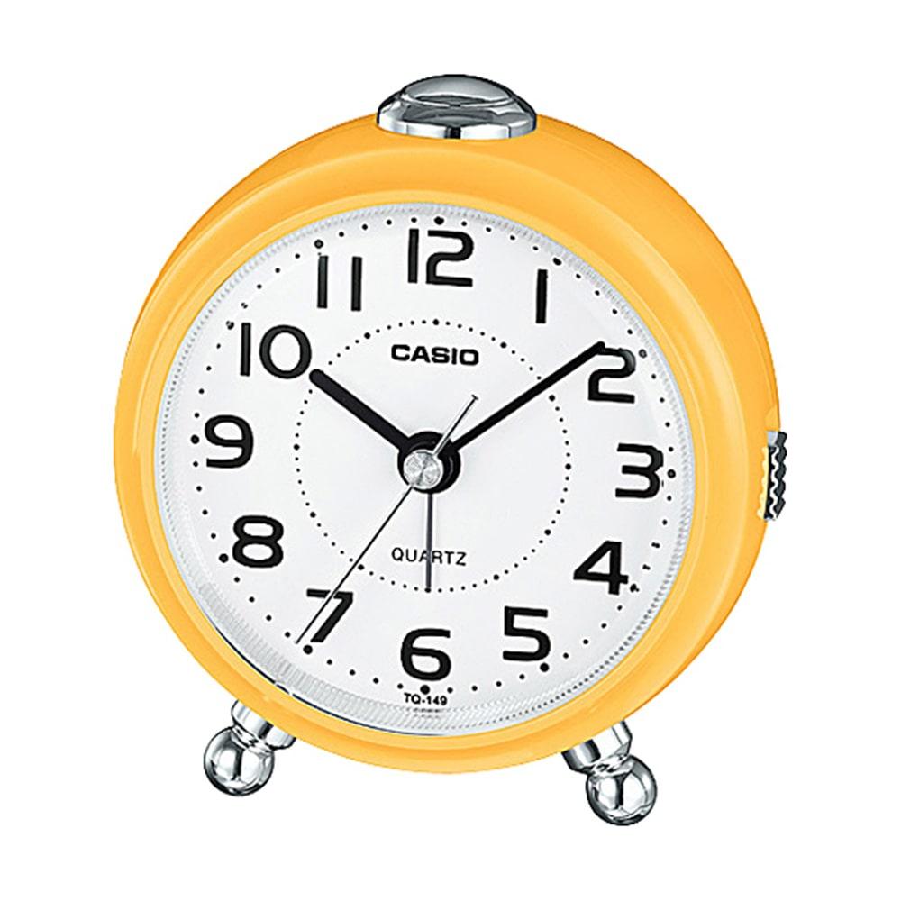 カシオ クオーツ式置き時計 TQ-149-5JF イエロー 1個