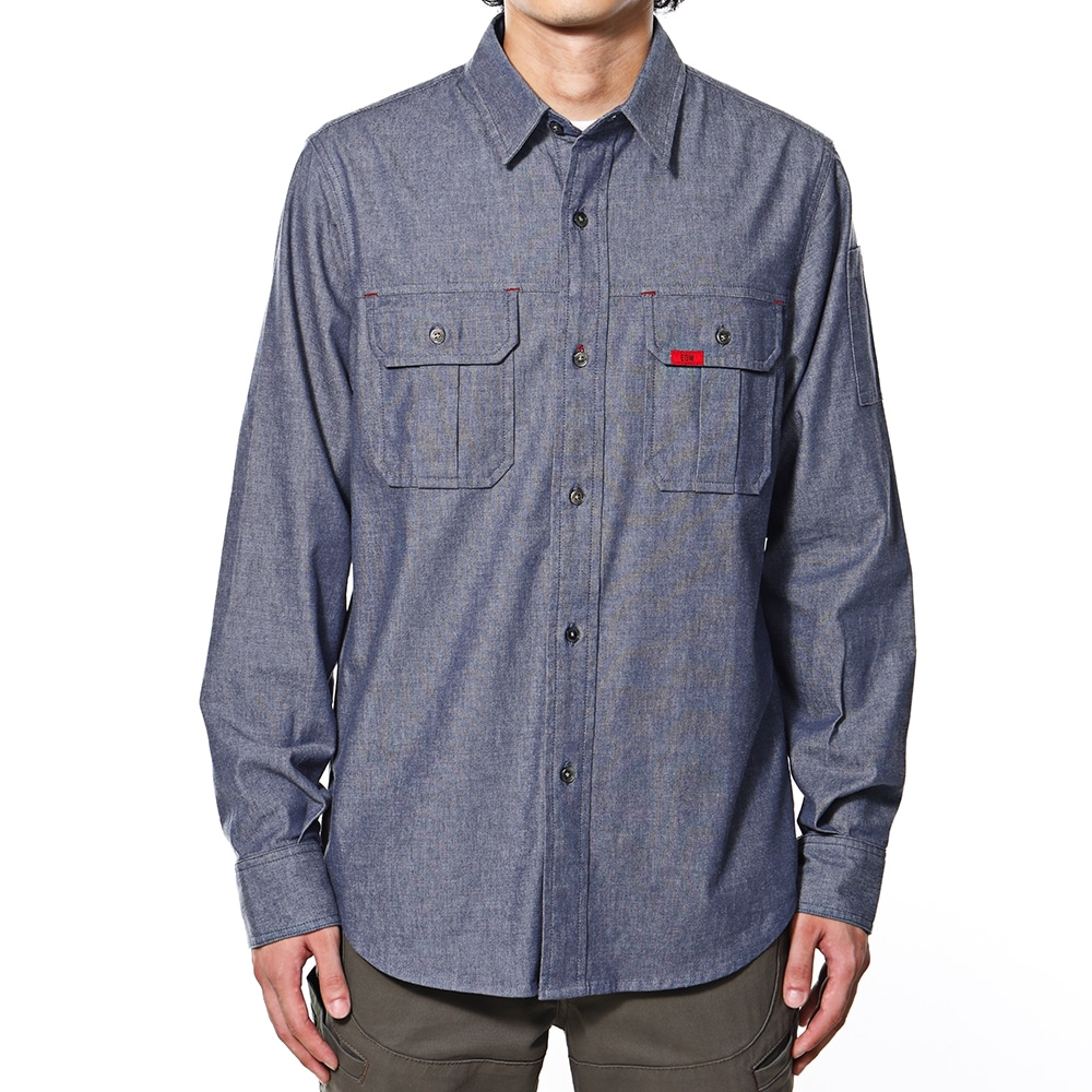 EDW ダンガリーシャツ ネイビー M