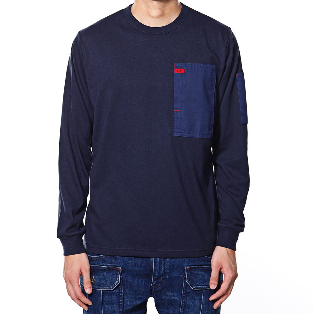EDW ロングスリーブTシャツ ネイビー M