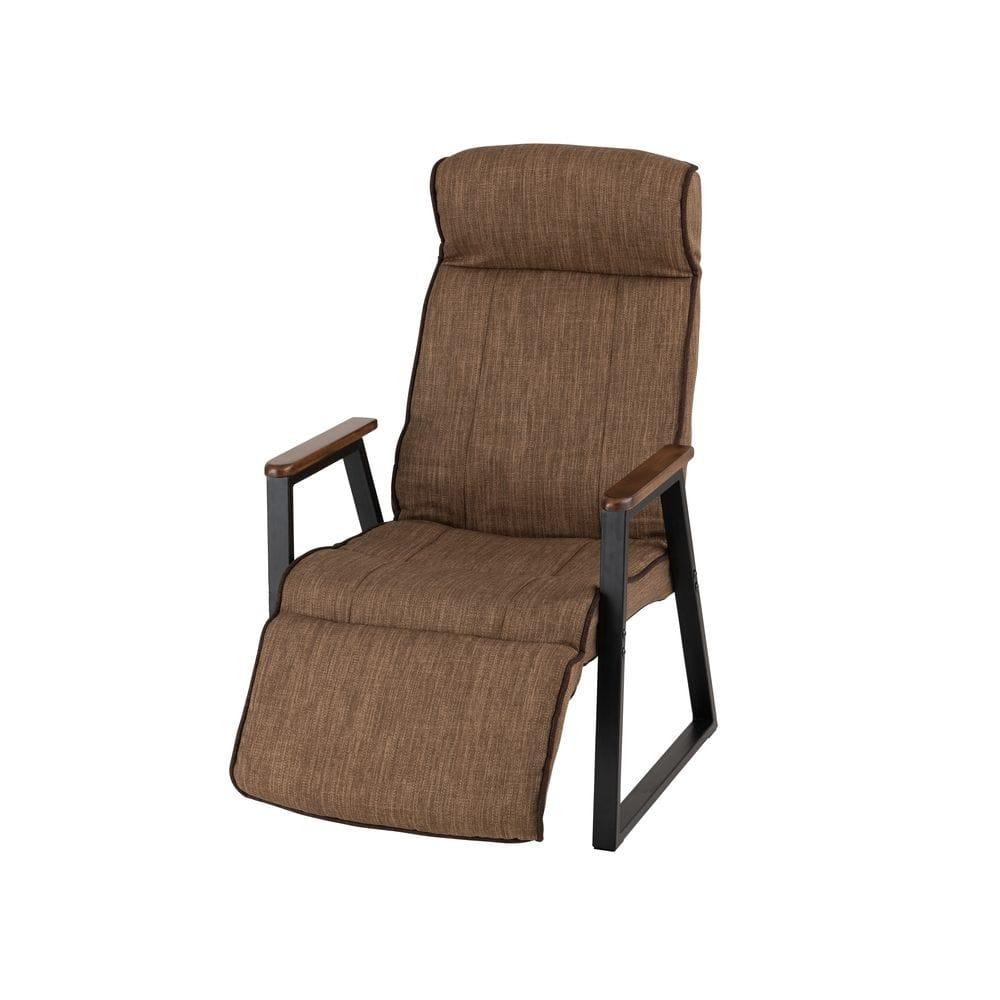 フットレスト付き高座椅子 ブラウン