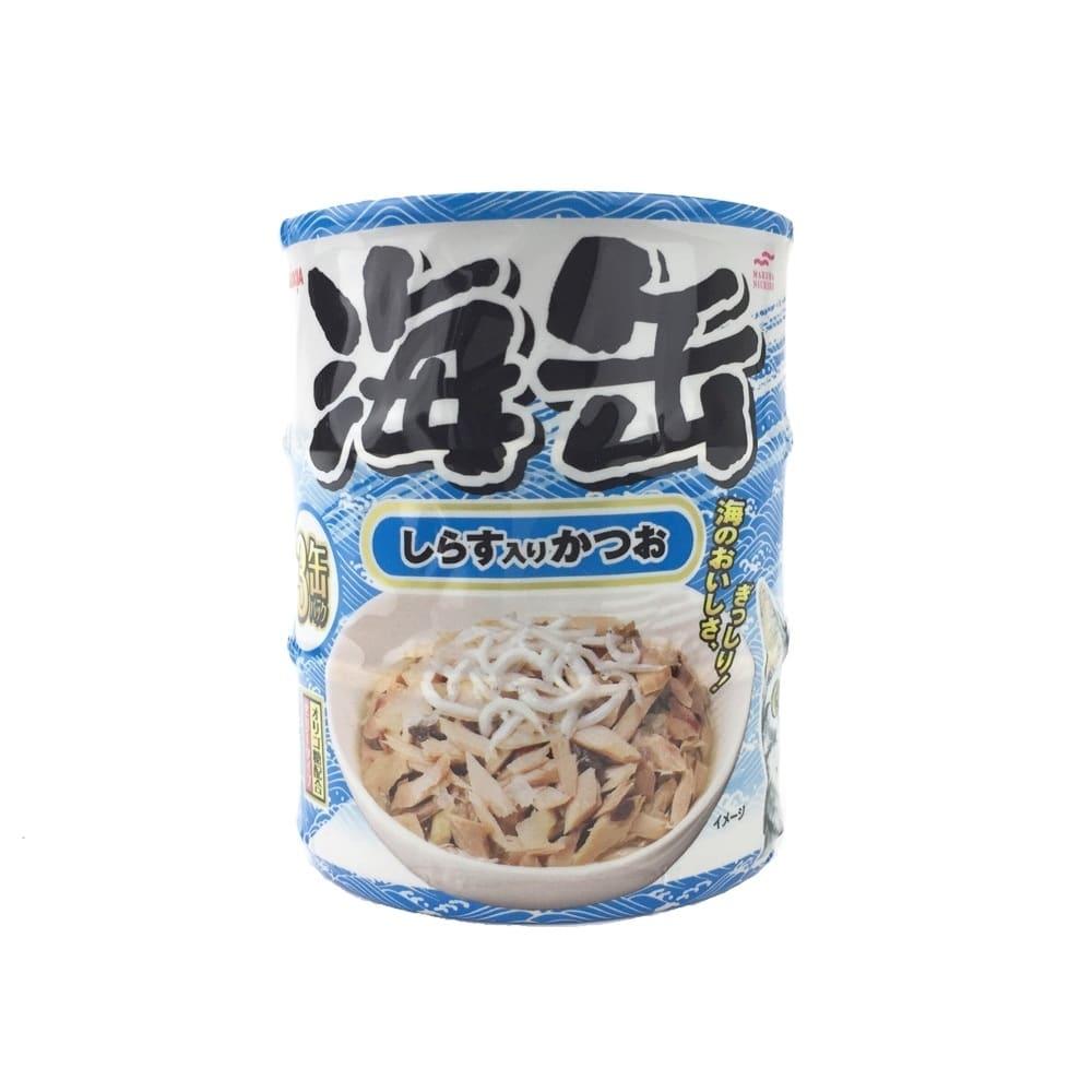 海缶ミニ3P しらす入りかつお 60g×3缶