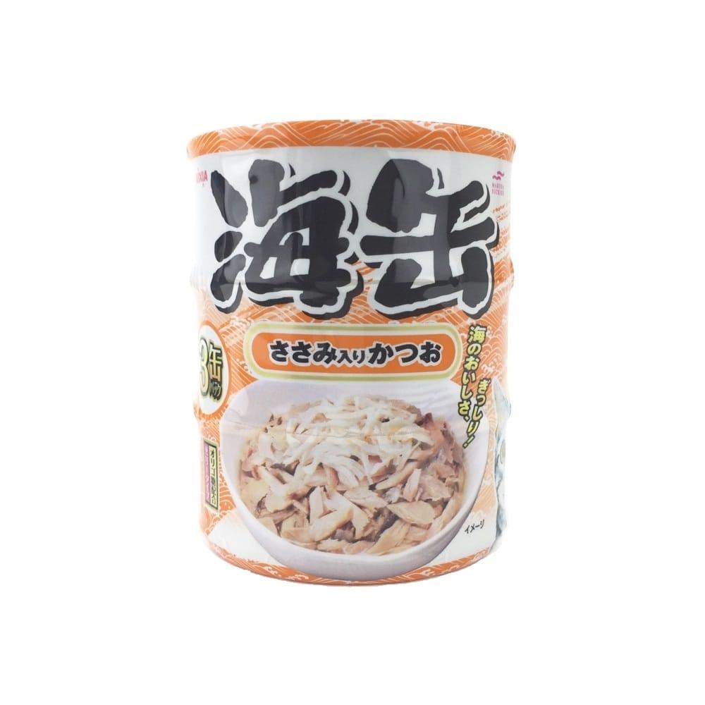 海缶ミニ3P ささみ入りかつお 60g×3缶