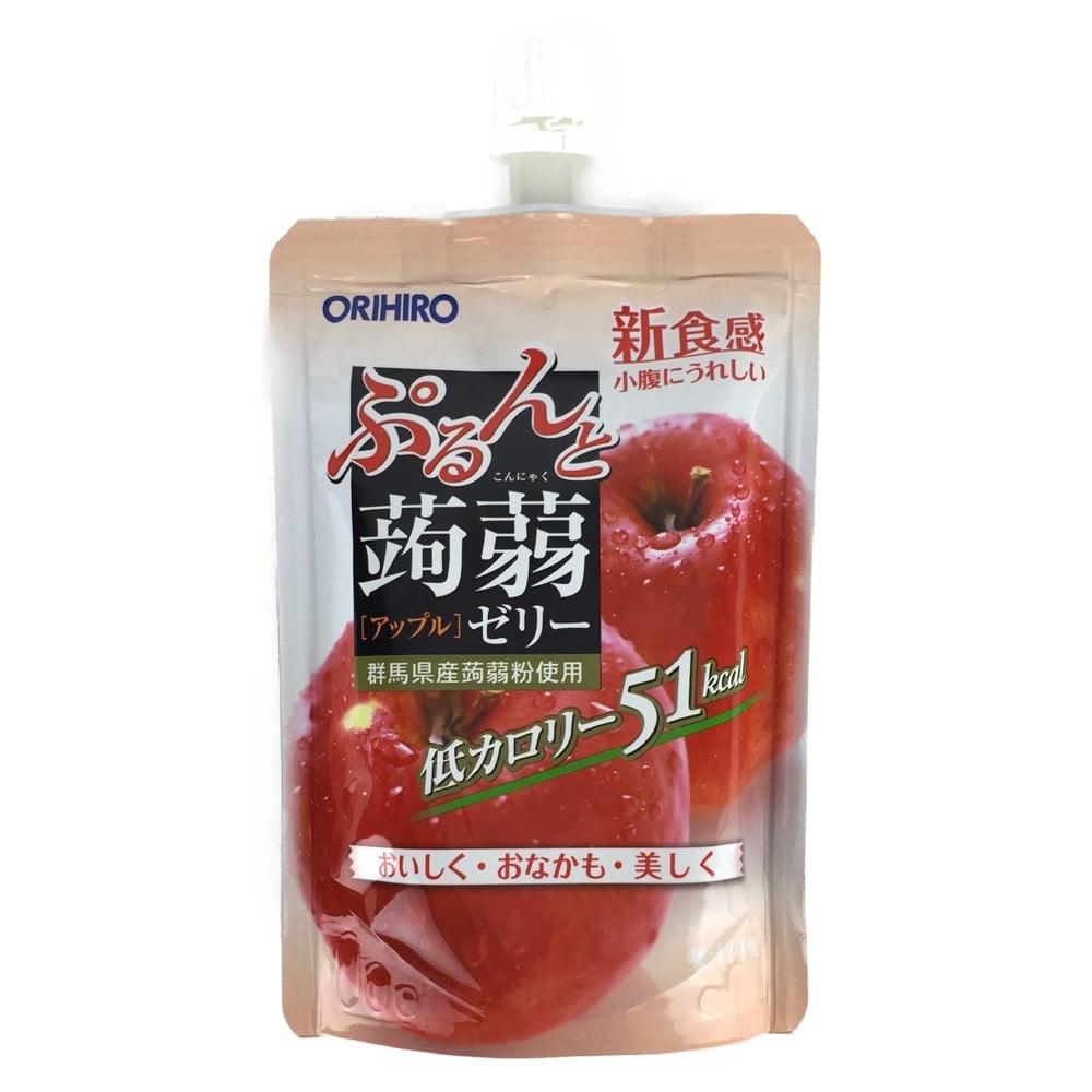 オリヒロ ぷるんと蒟蒻ゼリー アップル スタンディングパック 130g [4272]