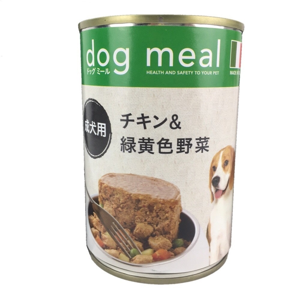 Pet'sOne ドッグミール缶 チキン&緑黄色野菜 成犬用 400g