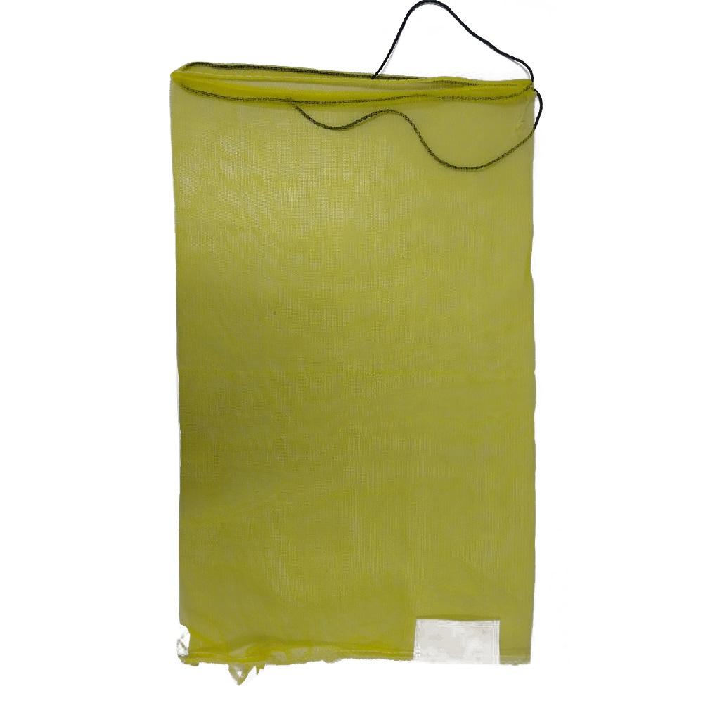 【店舗限定】<ケース販売用単品JAN> 種もみネット 黄 10P 不織布ラベル付