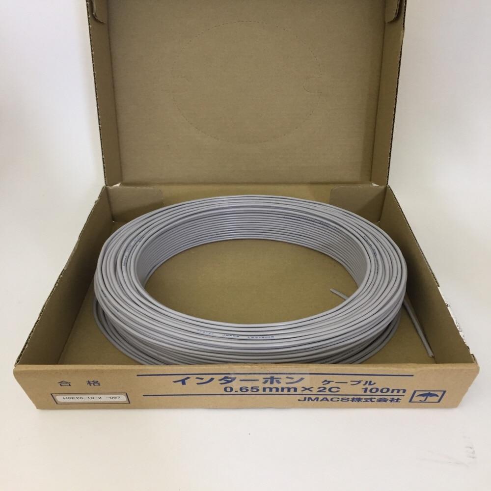 インターホンコード 2芯X0.65 100m巻き箱