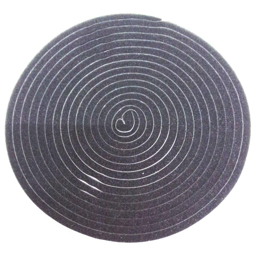 槌屋 すき間テープ 5mm×15mm×4m ダークグレー SKU-003