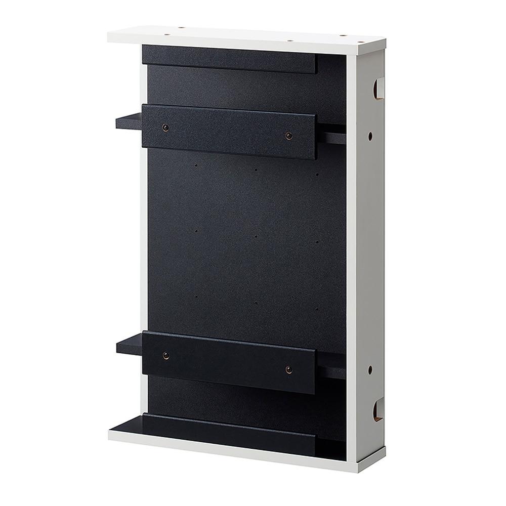 テレビ裏ちょい足しボックス  AS-6040CB-SI ホワイト【別送品】
