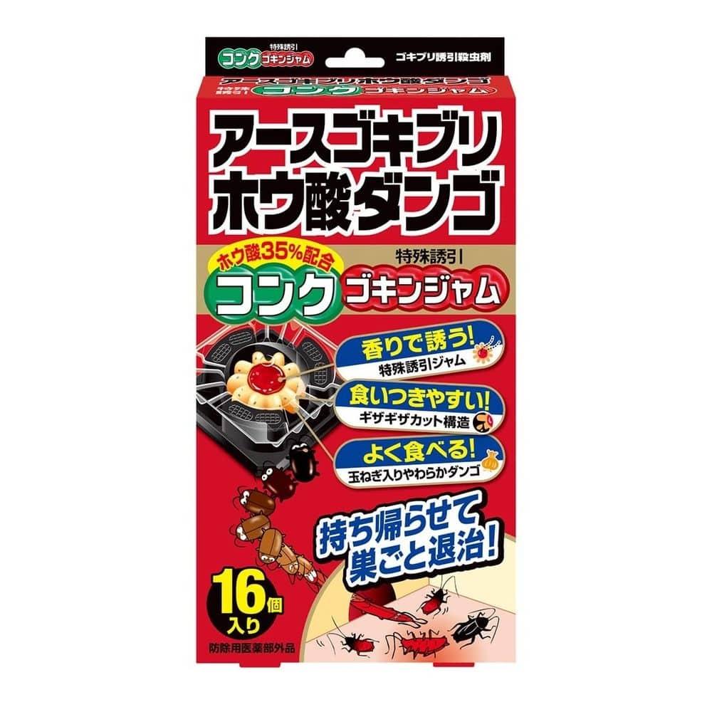 アース製薬 アースゴキブリホウ酸ダンゴ コンクゴキンジャム 16個