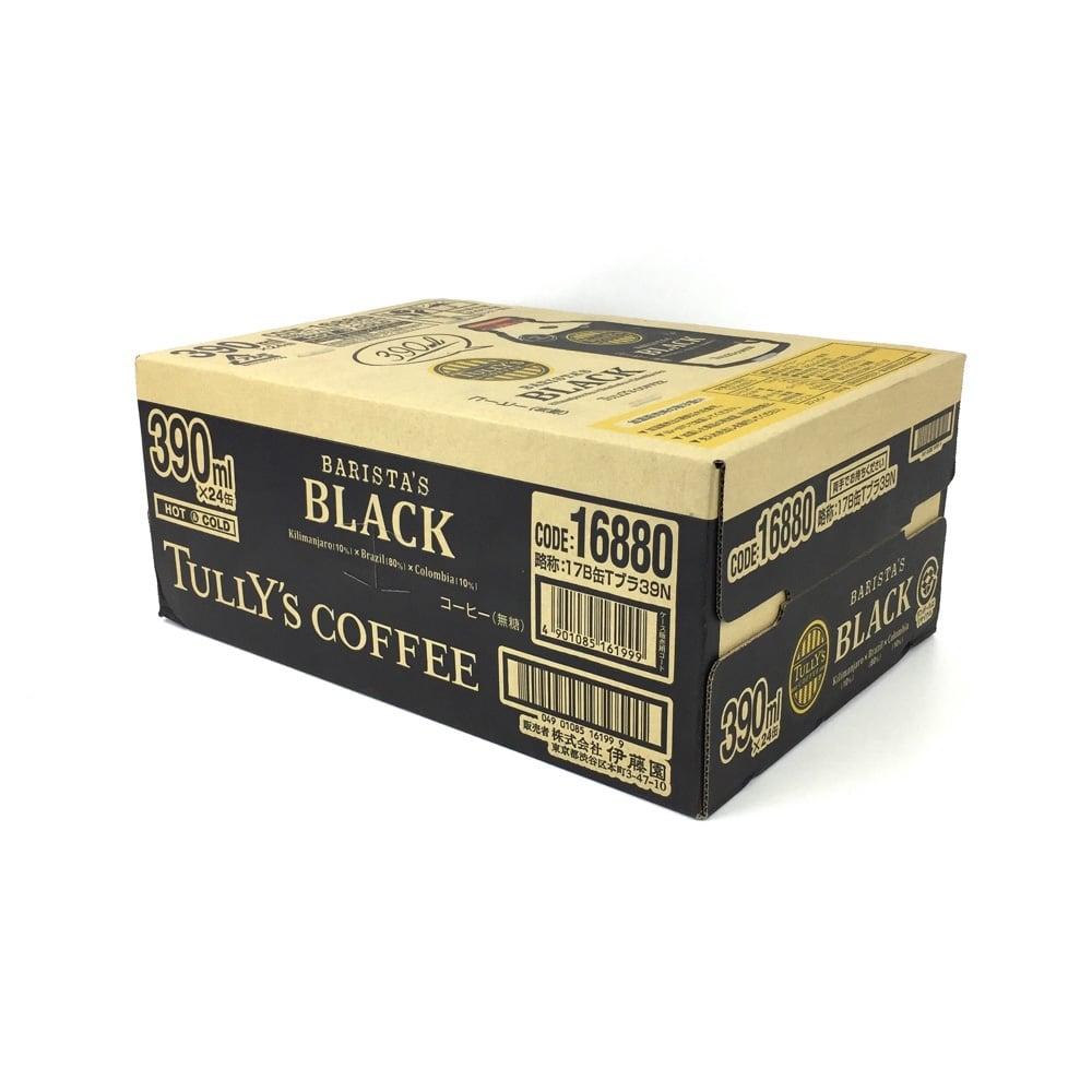 タリーズ バリスタズ BLACK ボトル缶 390mlx24本