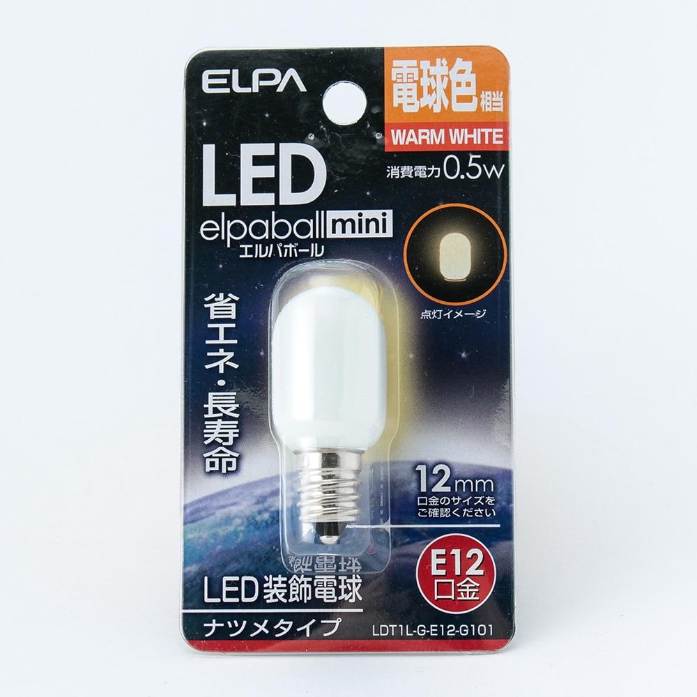 LEDナツメ形 電球色 口金E12 G101