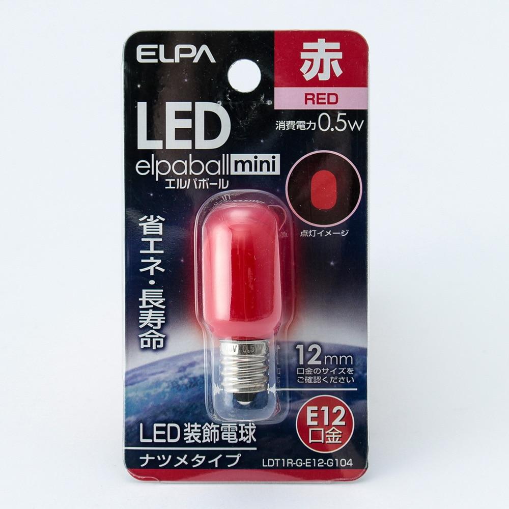 LEDナツメ形 赤   口金E12 G104
