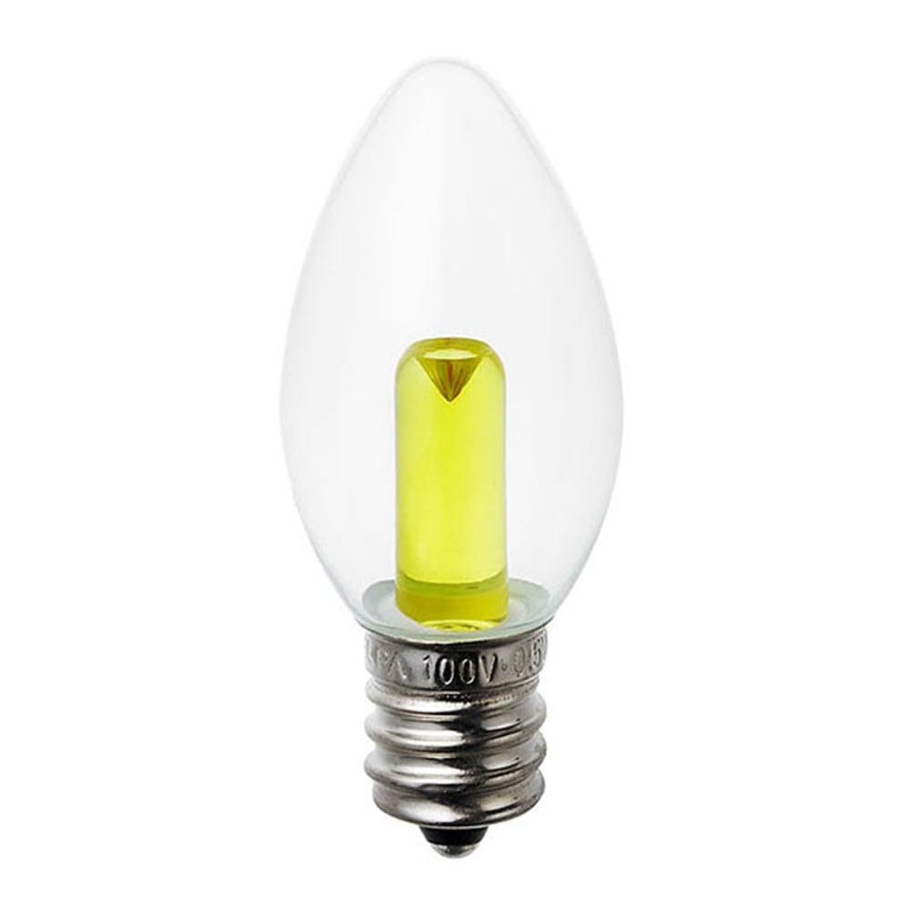 LEDカラーローソク球 LDC1CY-12G309