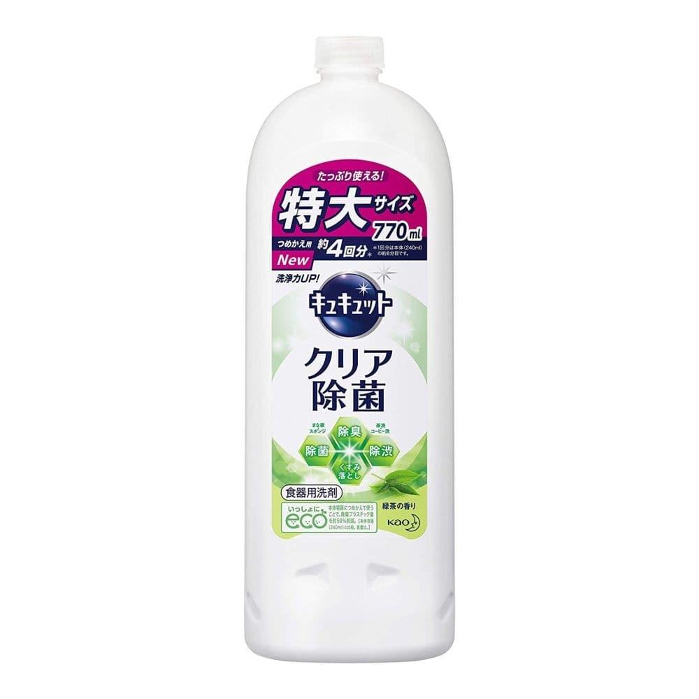 花王 キュキュット クリア除菌 緑茶の香り 詰替 770ml