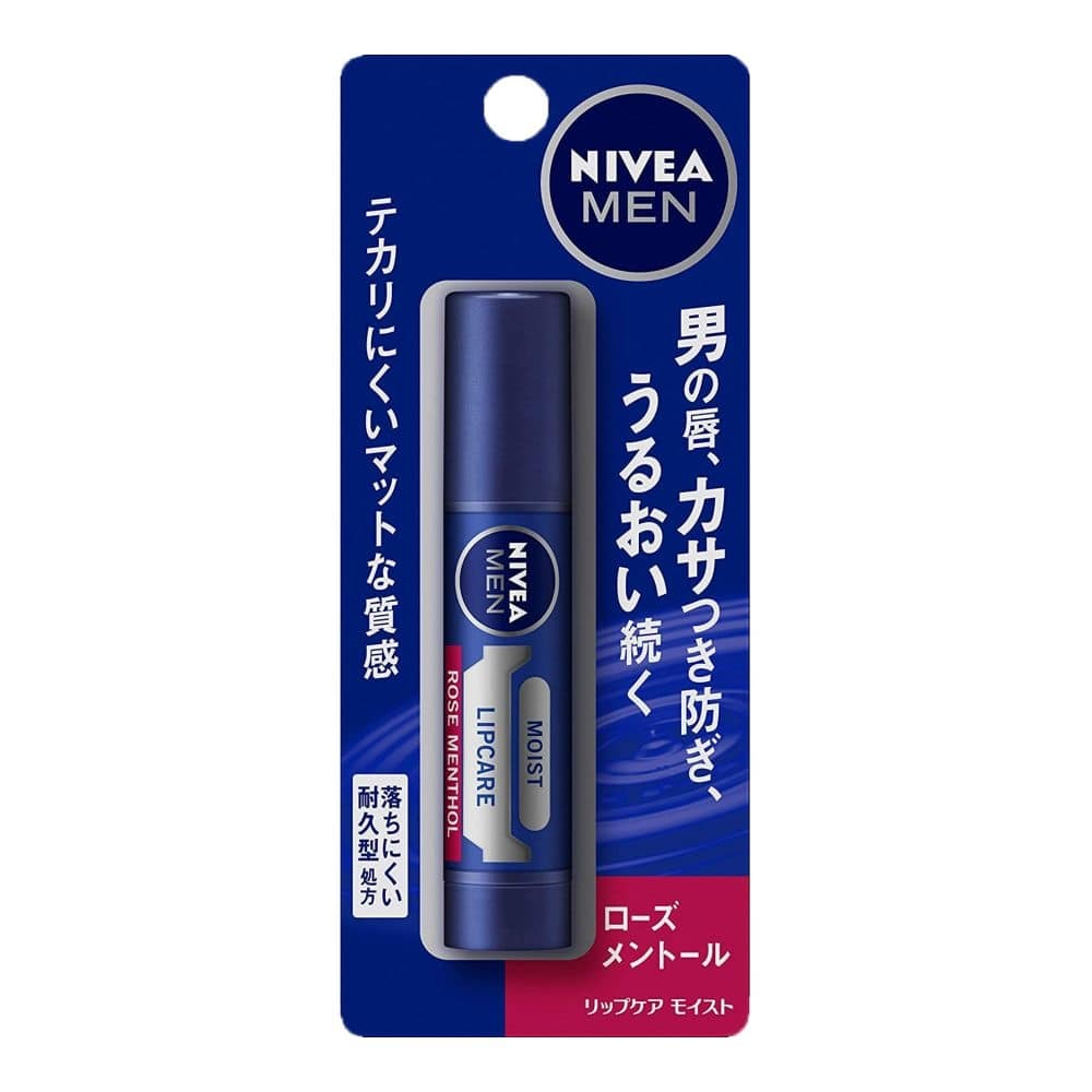 花王 ニベアメン リップケア モイスト ローズメントールの香り 3.5g