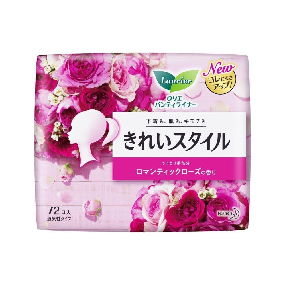 花王 ロリエ パンティライナー きれいスタイル ロマンティックローズの香り 72個