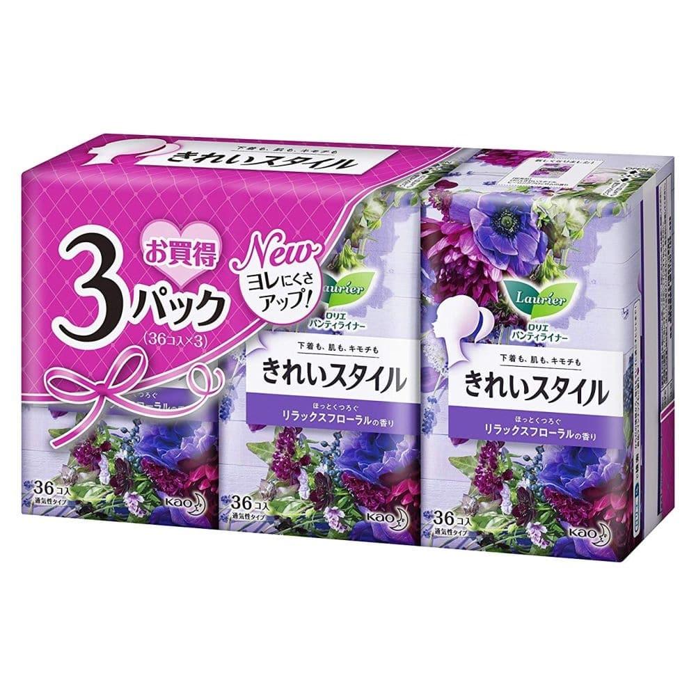 花王 ロリエ パンティライナー きれいスタイル リラックスフローラルの香り 36個×3パック