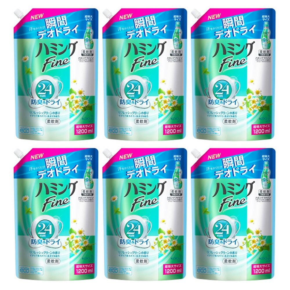 ハミング ファイン リフレッシュグリーンの香り つめかえ用 超特大サイズ(1200mL*6コ入)