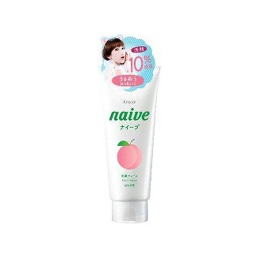 ナイーブ 洗顔フォーム 桃の葉エキス 10%増量(143g)